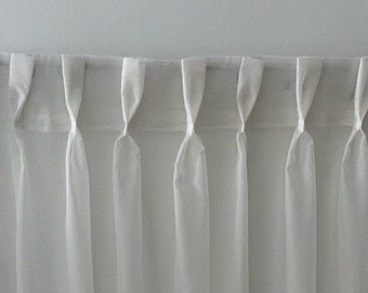 Sheer Veil French Pinch Pleat Drapery, Sheer Veil Curtains (Many Sizes Available)