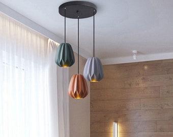Colorful Papaya pendant & Cluster Lights, Living Room Office Bedside Nursery Kids Lamp Dining Room Christmas Gift Interior Design