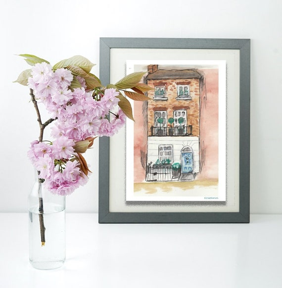 Personalised House or Venue Illustration   Original or Print   Choice of sizes
