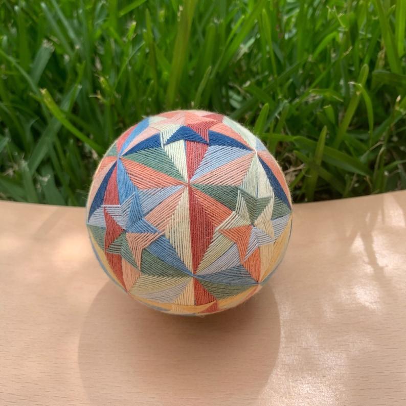 handmade temari ball stars-go-round