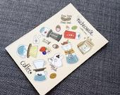 Coffee Sticker Sheet Manual Brewing Mini Stickers