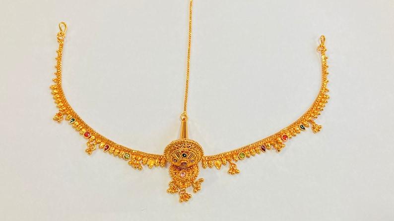 Indian Traditional Rajasthani Borla  Maangtika Hair Jewelry  Head Jewelry Bridal jewelry  Ethnic Gift Rakhdi  Borla
