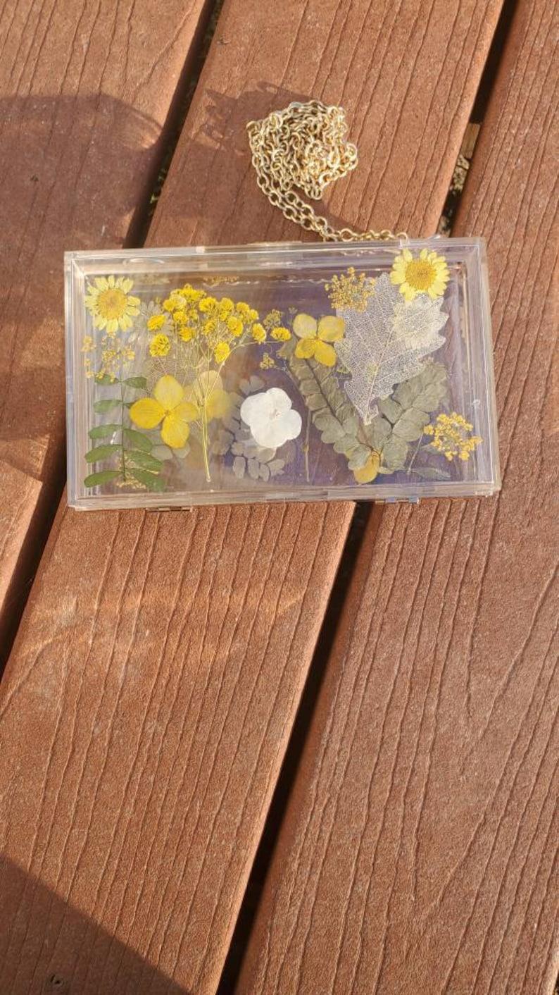 Women/'s Summer Bag Flower Transparent Small Square Bag Case Shoulder Messenger Shoulder Bag!
