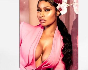 Bedroom Woman Decor Woman Illustrations Celebrity Prints Nicki Minaj Nicki Minaj Print Black Woman Wall Art,