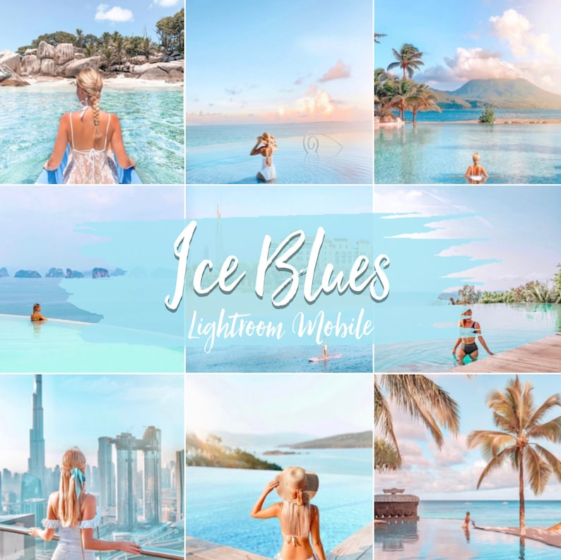 Ice Blue Preset Pack for Lightroom Mobile by luxe.tourista  image 0