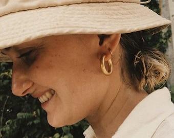 Gold Hoop Earrings •Basic Statement Earrings • Thick Huggies • Bold Minimal Earrings • Gold hoop Earrings • Chunky gold earrings