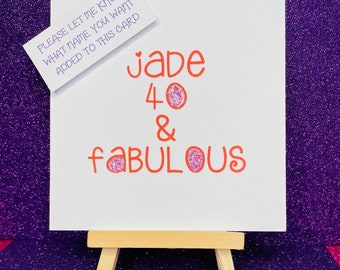 50th birthday cardfifty birthday card50th anniversary carddiamond cardbling cardany age card50th birthday cardgolden anniversary card