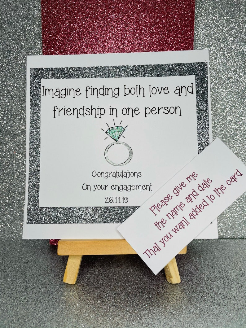 Engagement cardImagine finding both love and friendship in one person congratulations on your engagement cardwedding cardanniversary