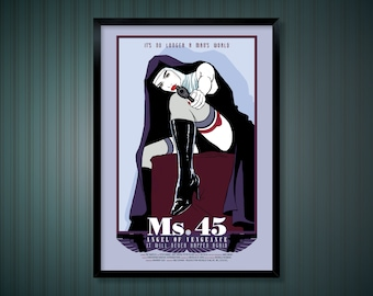Ms.45 Film Poster,  Alternative Poster Design and Illustration