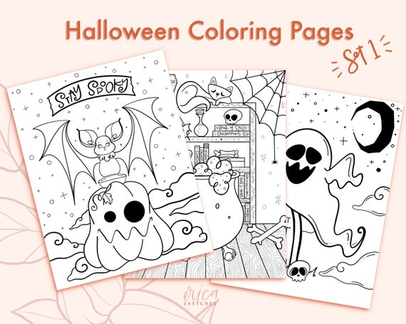 Halloween coloring pages printable fall coloring pages