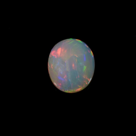 Most Beautiful Stone Of Vived Flashes SKU#NY626S 3.10 Cts Weight Of 12x10 Mm Size Ethiopian Mined Natural Ethiopian Opal Oval Cabochons