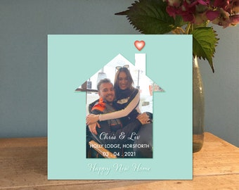 New Home Card / Personalised Card / Handmade Card / Photo Collage Card