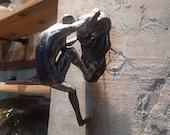 1PCS-Climbing man - Climbing sculpture - Wall sculpture- Wall decor- Sculpture