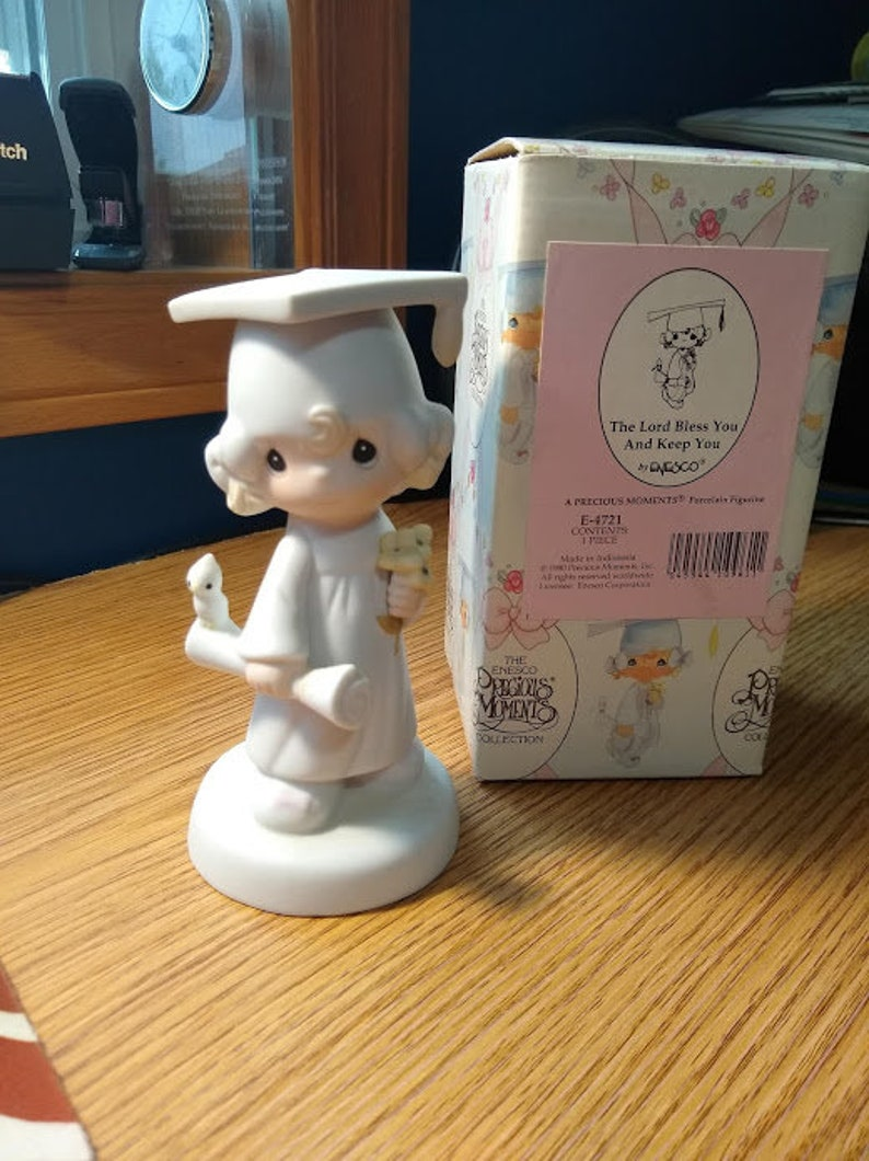 Precious Moments The Lord Bless You and Keep You Graduation Figurine Vintage Collectible