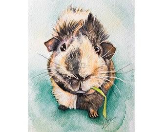 Guinea Pig Art Etsy