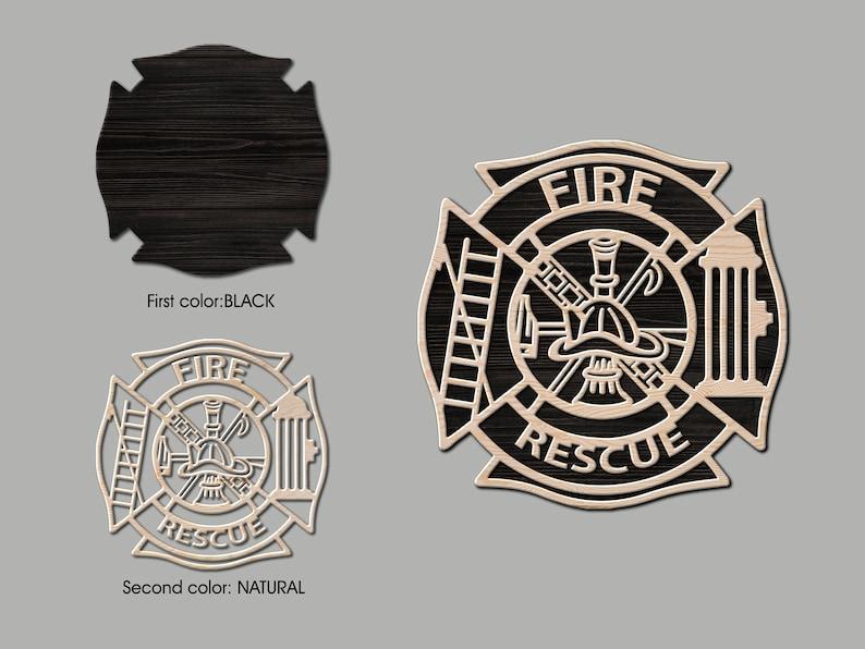 Maltese cross wood Fire department wall art Maltese cross sign Fire department logo Firefighter sign Firefighter gift for him