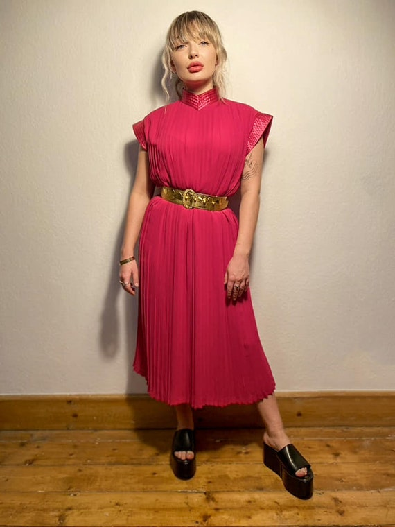 Vintage 1980s Pleated Dress