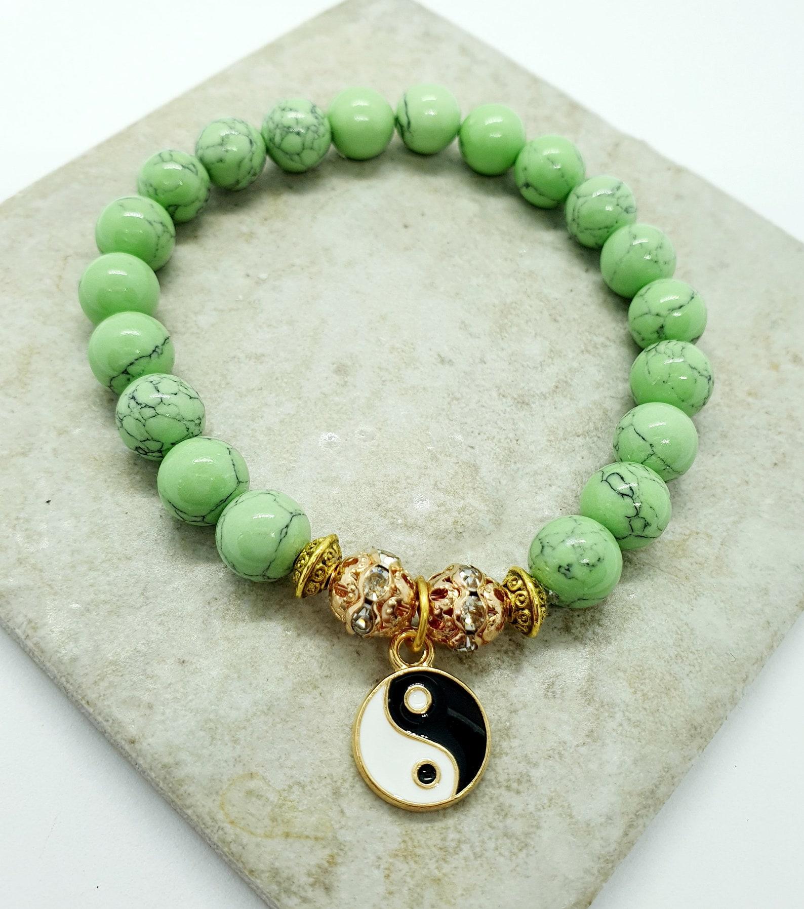 yin yang edelstein armband yin yang charme crystal stretch