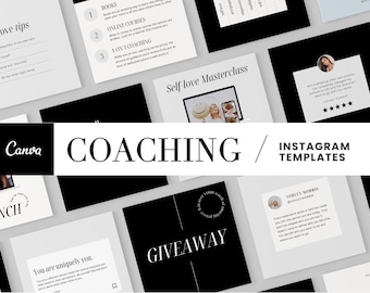 Modern Coach Instagram Templates | Inspirational Quotes, Positivity, Coaching, Affirmations, Social Media Templates, Instagram Post, Classes