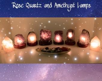 Amethyst Lamps/Rose Quartz Lamps?Amethyst/Rose Quartz