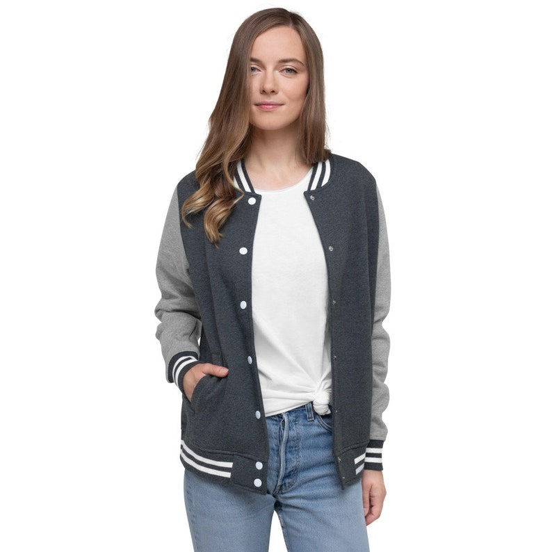 Ah Xu Sporty Letterman Jacket Word of Honor \u5c71\u6cb3\u4ee4