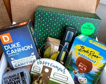 Pandemic Gift. Quarantine Survival Box. Men's Care Package. Funny Gift. Bob Ross Fun. Quarantine Gift Get Well Soon. Camping Gift.