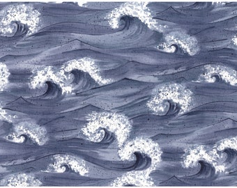 Moda Fabric by Debbie Rodgers - Crashing Waves - 100% Cotton Fabric - Great for masks, quilting, sewing, pillows, and other craft projects