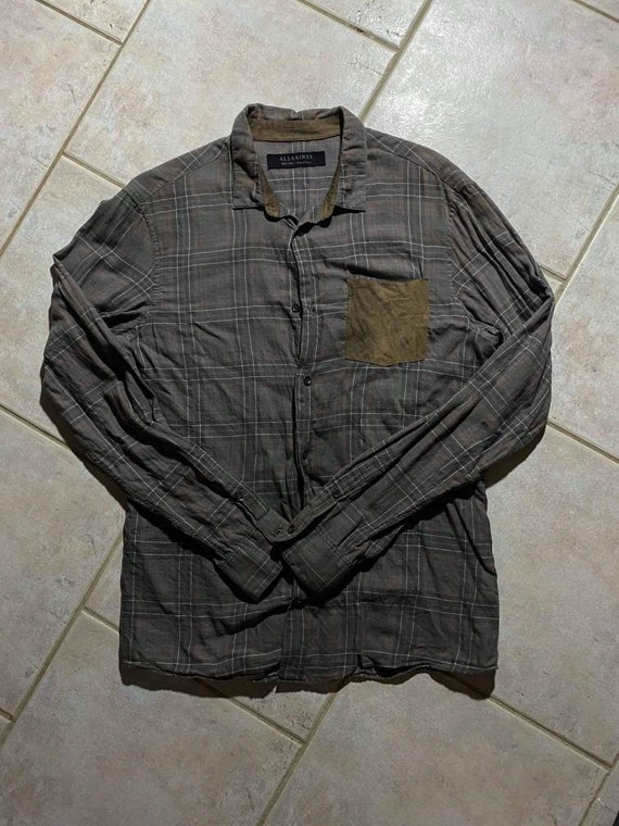 ALLSAINTS Brown Flannel Shirt