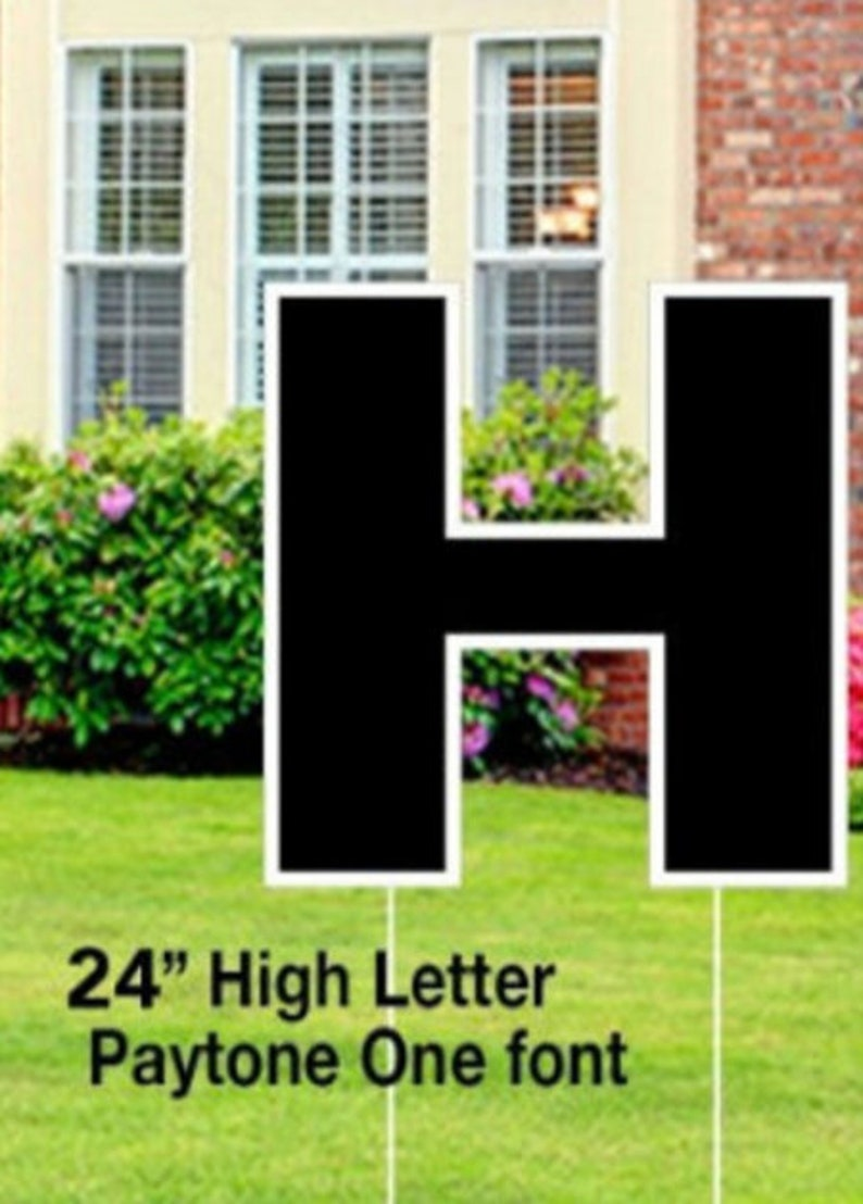 Yard Letter Stakes 8 inch and 26 inch