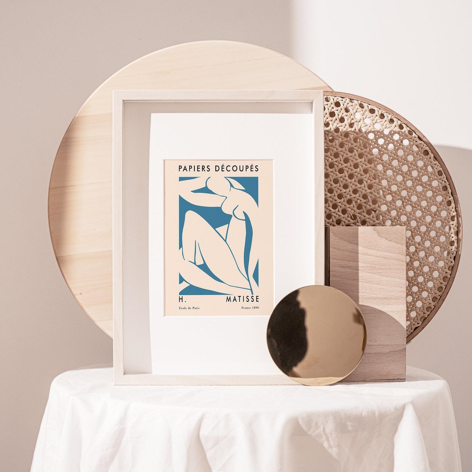 Henri Matisse Inspired Exhibition Poster Warm Terracotta