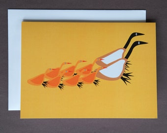 FAMILY - Geese Family Outing Greeting Card