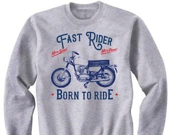 Motorcycle Sweatshirt Motorcycle Gift Bike Hoodies /& Sweatshirts Biker Gifts Ducati 250 Monza Fast Rider Motorcycle Sweater