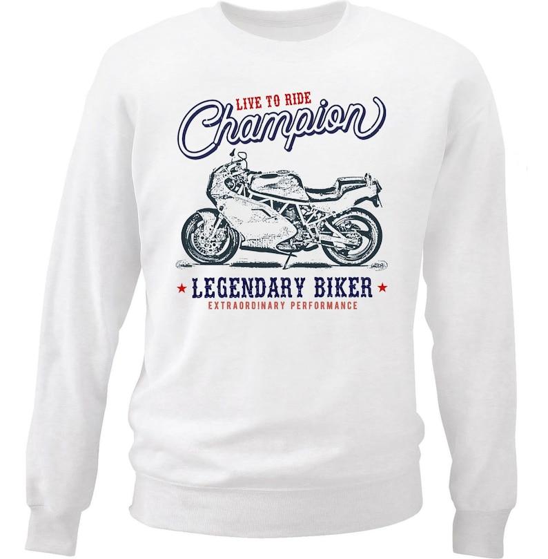 Motorcycle Gift Motorcycle Sweatshirt Motorcycle Sweater Biker Gifts Bike Hoodies Ducati 900 SS 92 Live to Ride Champion