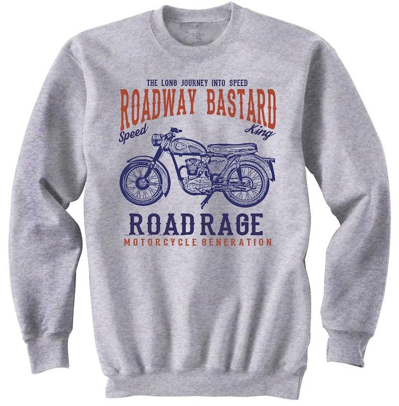 Bike Hoodies /& Sweatshirts Biker Gifts Motorcycle Gift Motorcycle Sweatshirt Motorcycle Sweater BSA C15 Road Rage