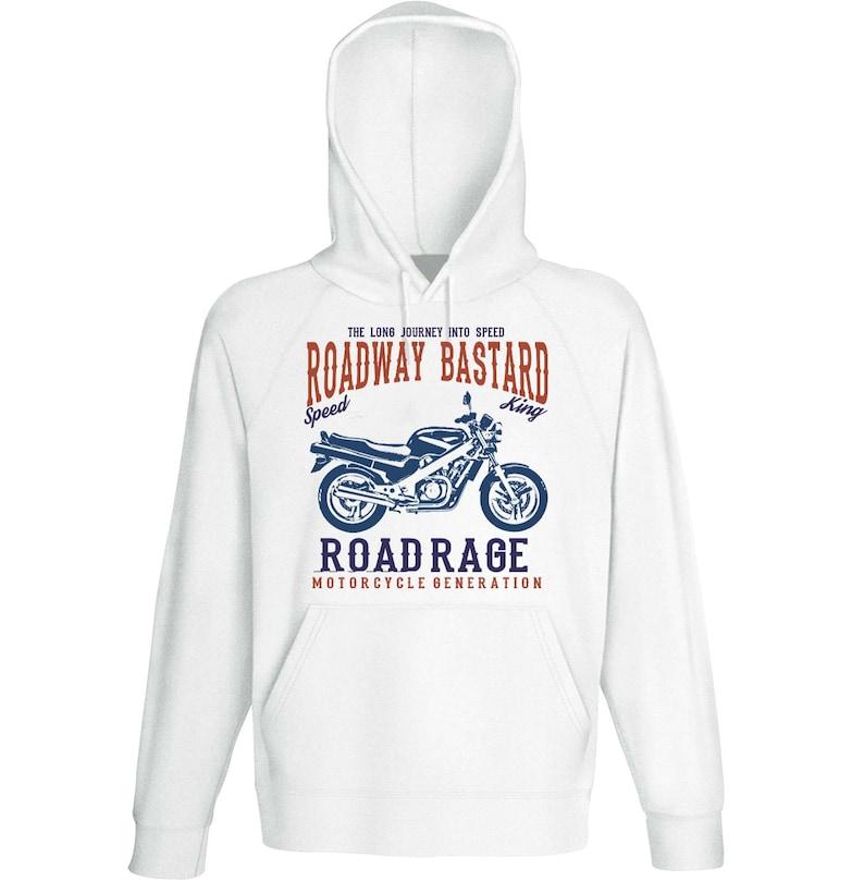 Bike Hoodies Biker Gifts Japanese Bike NTV 650 Revere Road Rage Motorcycle Sweatshirt Motorcycle Gift Motorcycle Sweater