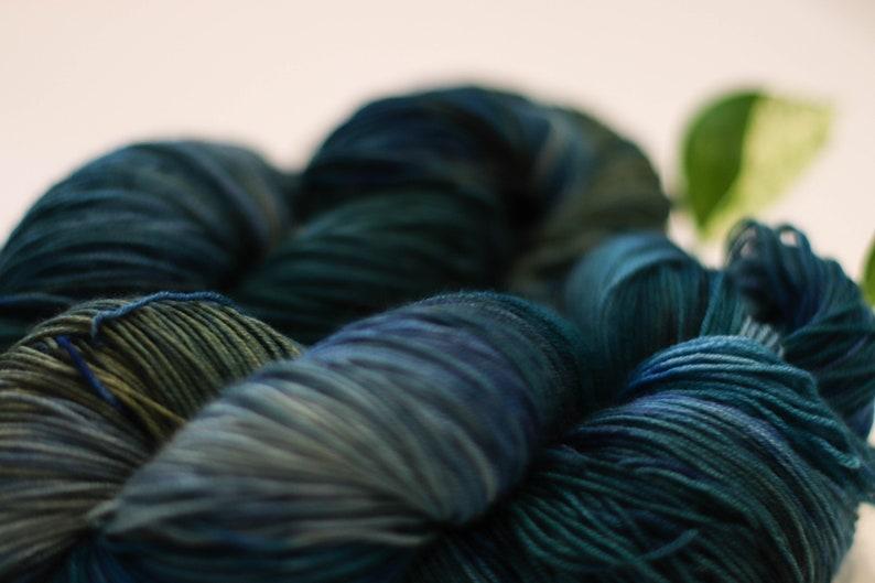 small dye batch Fingerling Hand Dyed Yarn
