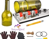 Glass Bottle Cutter Glass Cutting Tools DIY Machine Cutting Wine Beer Champagne Whiskey Bottle Cutter Kit DIY Arts and Crafts for Adults