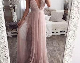 Wide dress classic dress Womens Elegant Dress long sleeve Dress Tulle Dress UrbanMood Maternity Dress