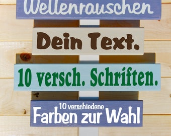 Sign set with your personal texts. Great Maritime Decoration!