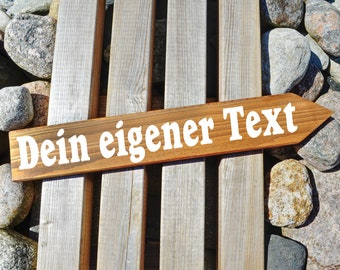 Individual wooden signpost with your text. Fonts and colors to choose from, hand-painted.