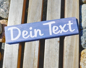 Individual wooden sign with your text. Fonts and colors to choose from, hand-painted.