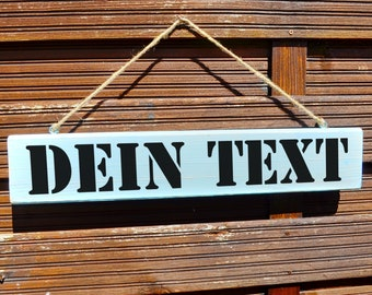 Sign to hang with your text. Fonts and colors to choose from, hand-painted.