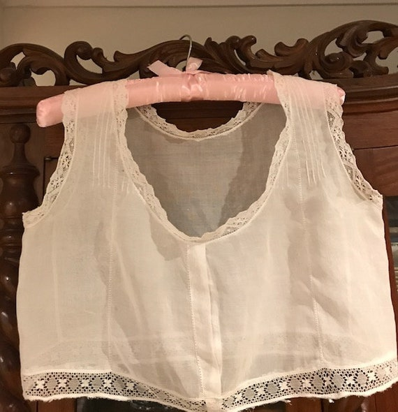 Victorian lady's cotton Camisole