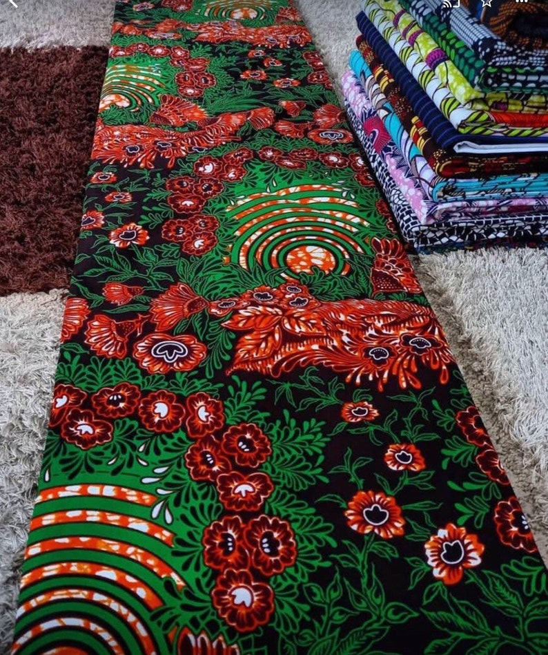 Multicolor African FabricAfrican prints Ankara fabric African fabric by the yardAfrican fabric African fabric 6 yardsMK106