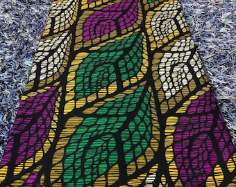 Purple and greenAfrican Fabric/African prints/ Ankara fabric/ Wax print/ African fabric for crafts/ African headwrap/ African clothing/MK908