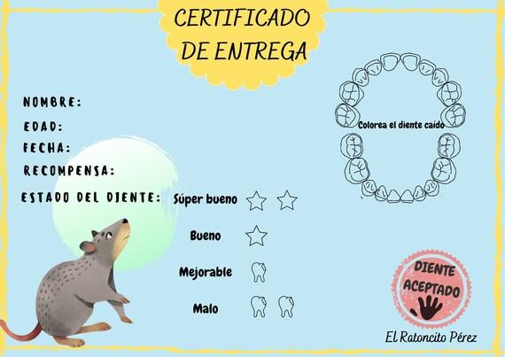 Certificado Raton Perez Certificado Ratoncito Perez Etsy