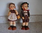 Goebel Hummel Hansel and Gretel 11 quot Dolls