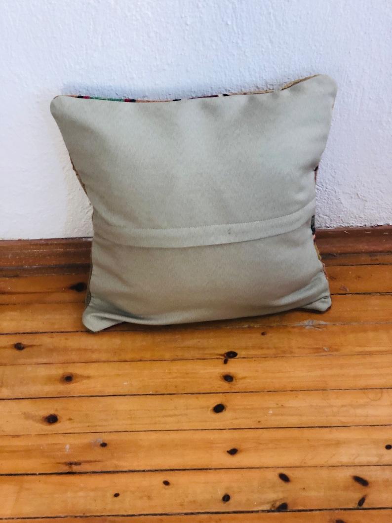Western Throw Pillow Handwoven Throw Pillow Southwestern Throw Pillows Home Accent Pillow Wool Cowboy Throw Pillow Vintage Wool Pillow