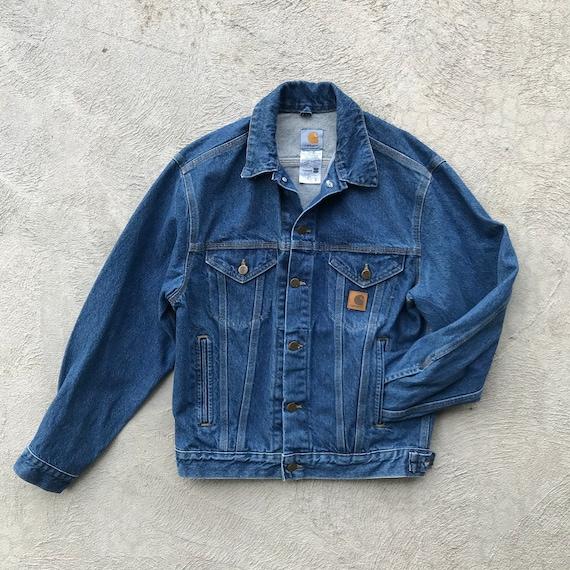 S 90s Carhartt Denim Jacket - Workwear Chore Coat