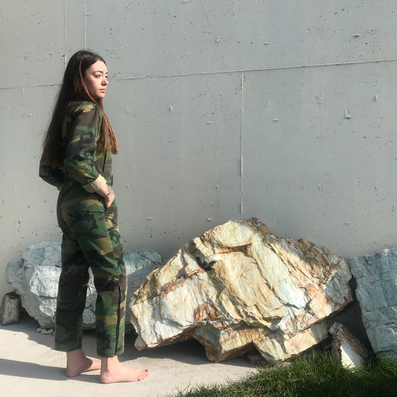 XS/S Army Camo Jumpsuit Wall's Brand - Camouflage